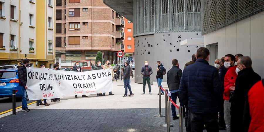 Euskal Selekzioaren ofizialtasunaren aldeko konzentrazioa Eibarren